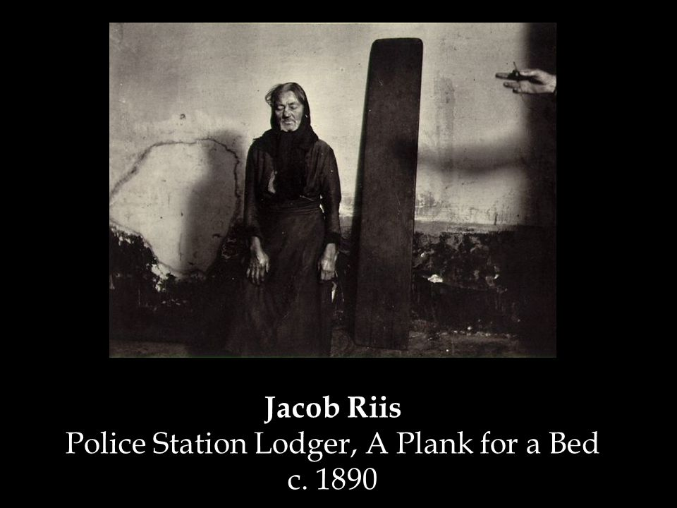 Jacob Riis Police Station Lodger, A Plank for a Bed c. 1890