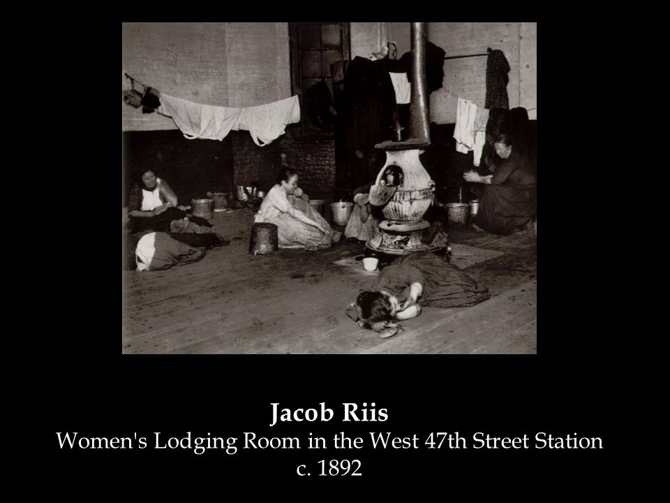 Jacob Riis Women's Lodging Room in the West 47th Street Station c. 1892