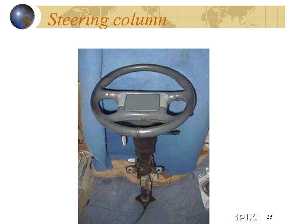 25 Steering column