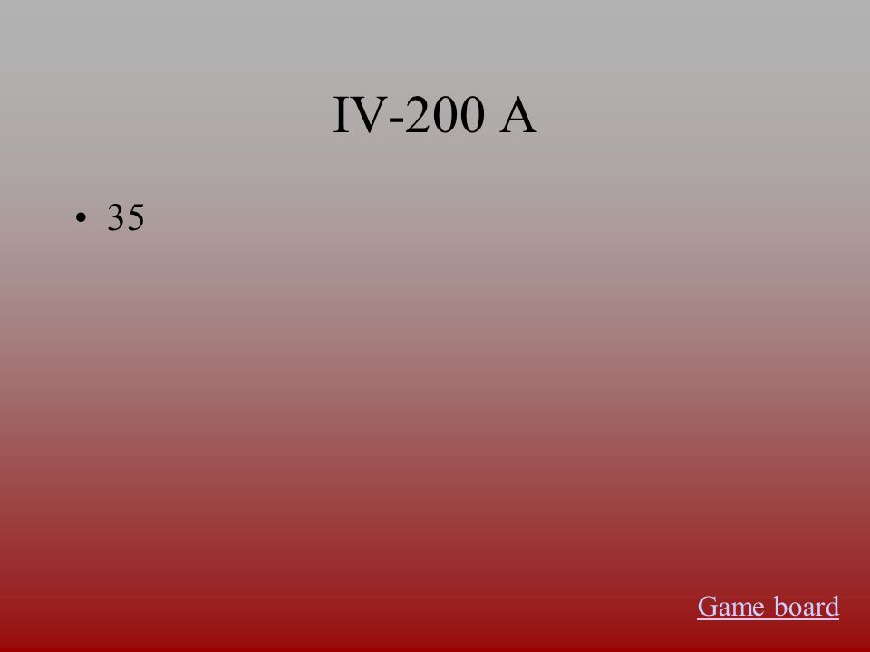 IV-100 A germanium Game board