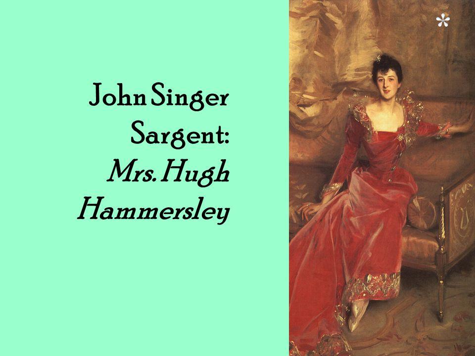 John Singer Sargent: Mrs. Hugh Hammersley