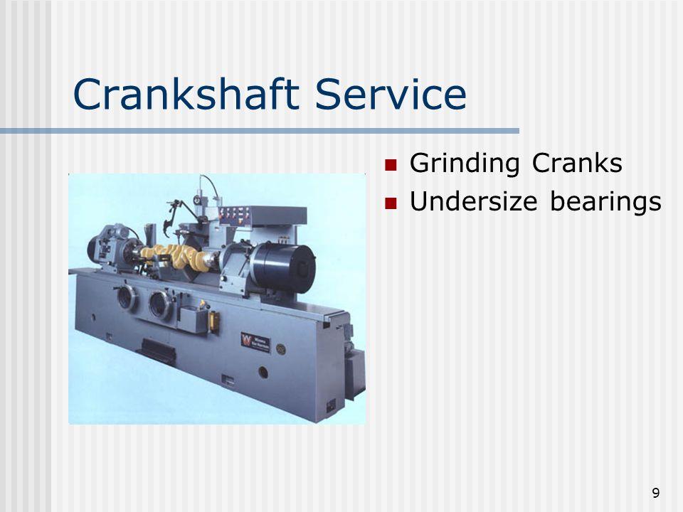 9 Crankshaft Service Grinding Cranks Undersize bearings