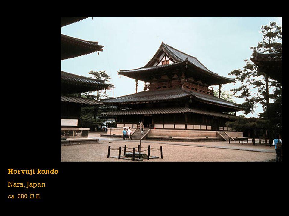 Horyuji kondo Nara, Japan ca. 680 C.E.