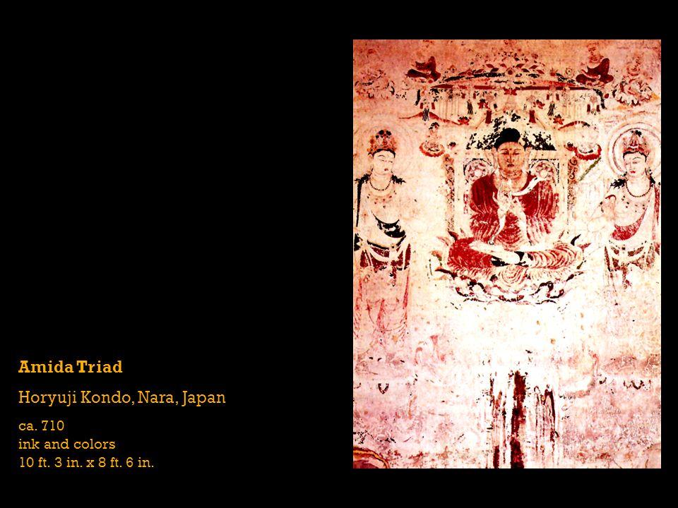 Amida Triad Horyuji Kondo, Nara, Japan ca. 710 ink and colors 10 ft. 3 in. x 8 ft. 6 in.