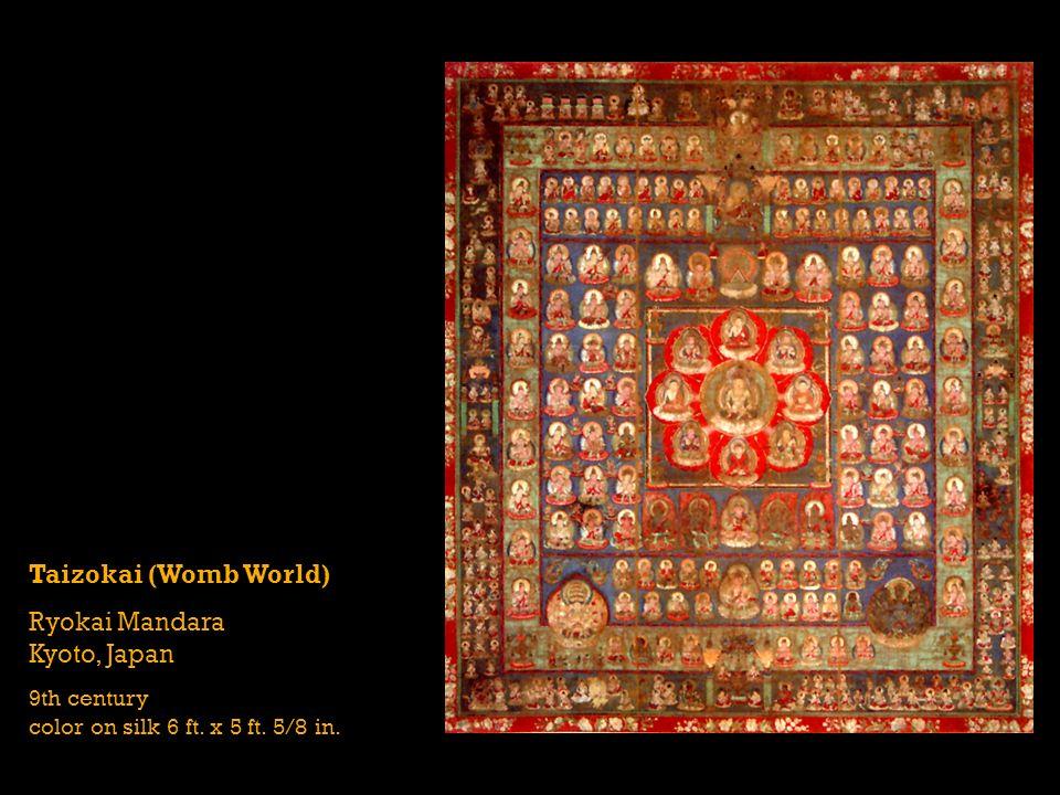 Taizokai (Womb World) Ryokai Mandara Kyoto, Japan 9th century color on silk 6 ft. x 5 ft. 5/8 in.