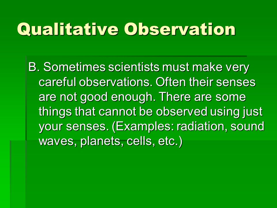 Observation In the space below, record 5 observations about your science classroom. 1.2.3.4.5.