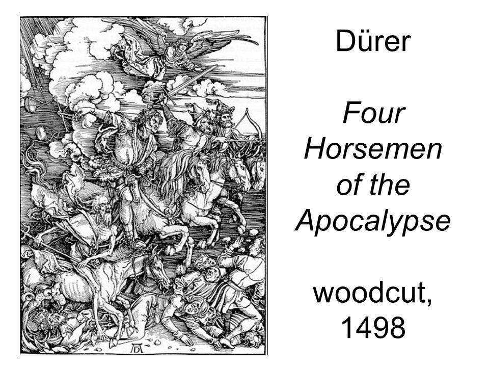 Dürer Four Horsemen of the Apocalypse woodcut, 1498