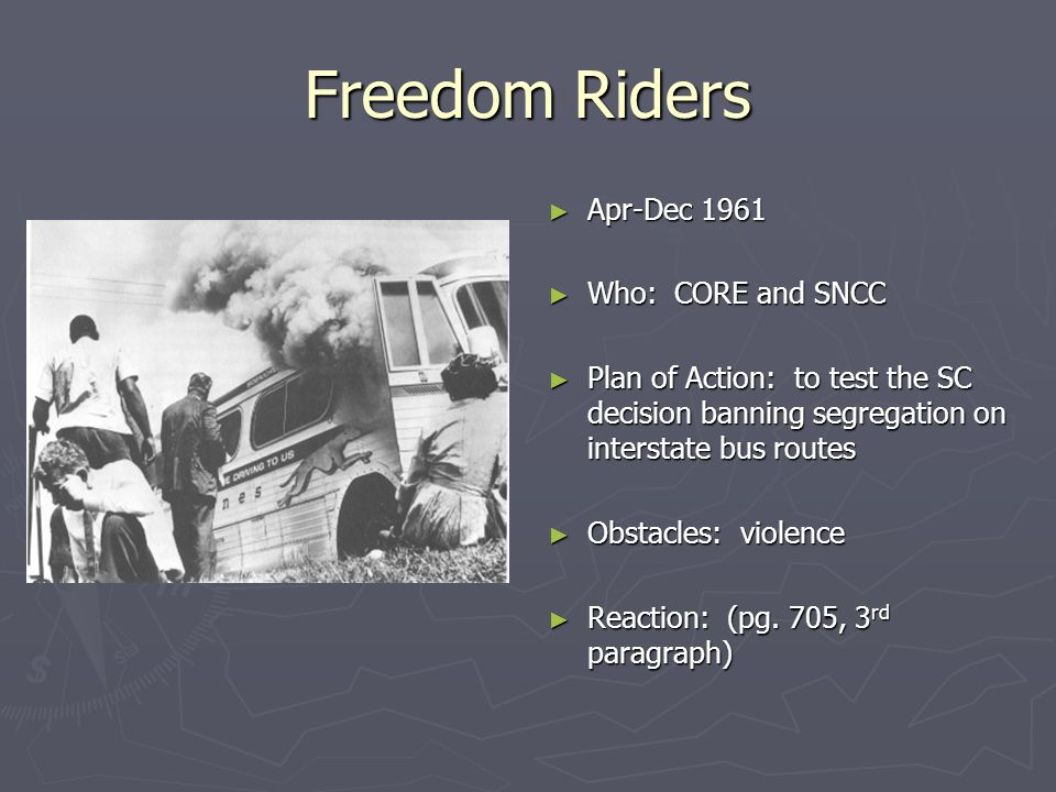 Momentum Timeline May 1961, Freedom Riders May 1961, Freedom Riders Sep 1962, integrating the University of MS Sep 1962, integrating the University of