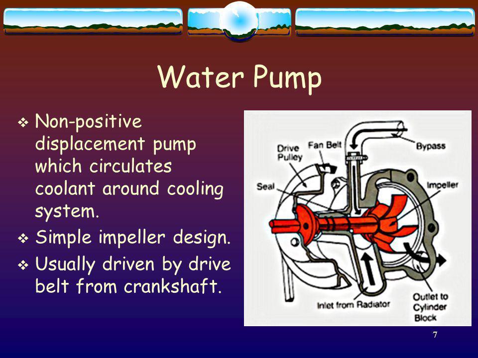 8 Water Pump Leakage Weep hole Noise bearing