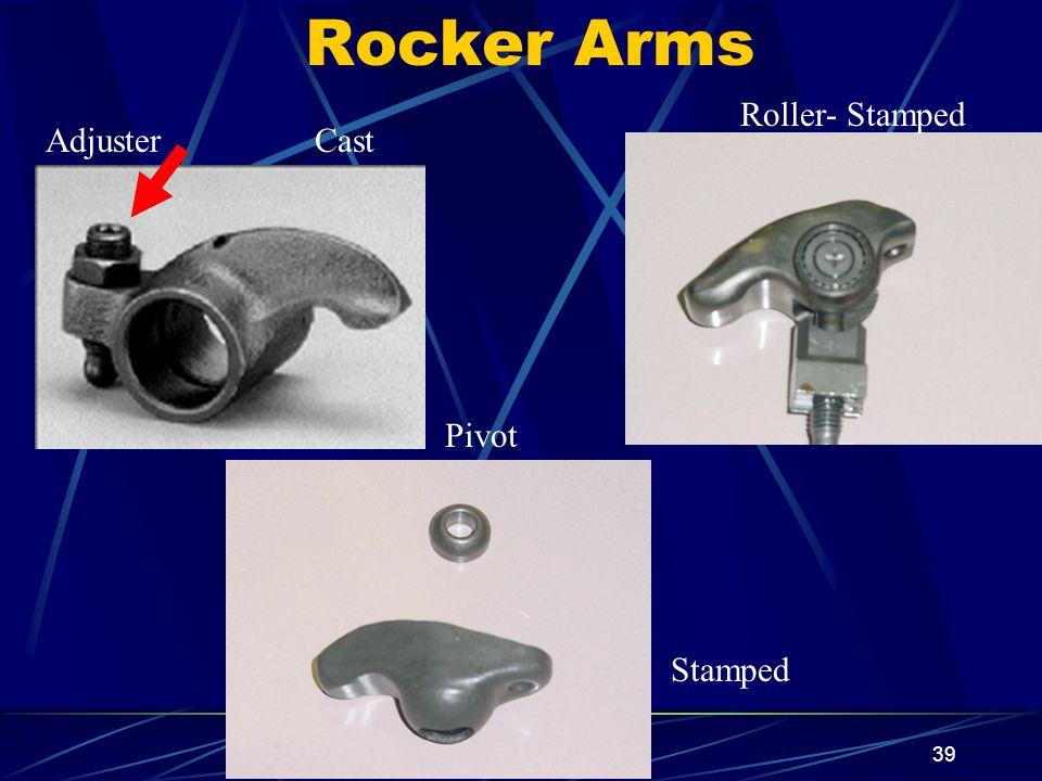 39 Rocker Arms Roller- Stamped Stamped CastAdjuster Pivot