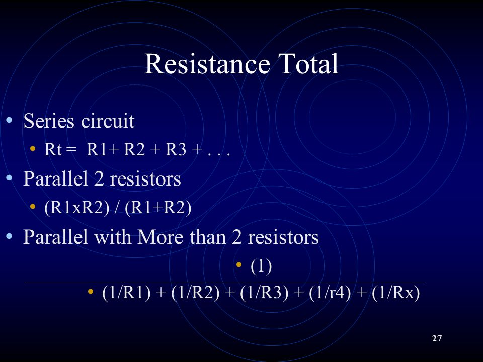 26 Resistance is affected by...