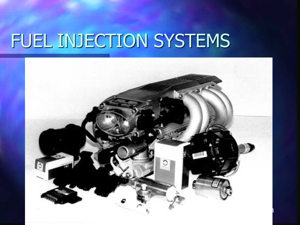 1 FUEL INJECTION SYSTEMS