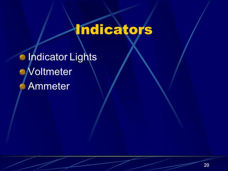20 Indicators Indicator Lights Voltmeter Ammeter