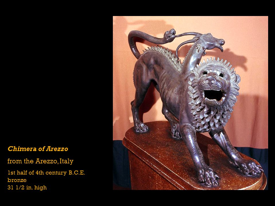Chimera of Arezzo from the Arezzo, Italy 1st half of 4th century B.C.E. bronze 31 1/2 in. high