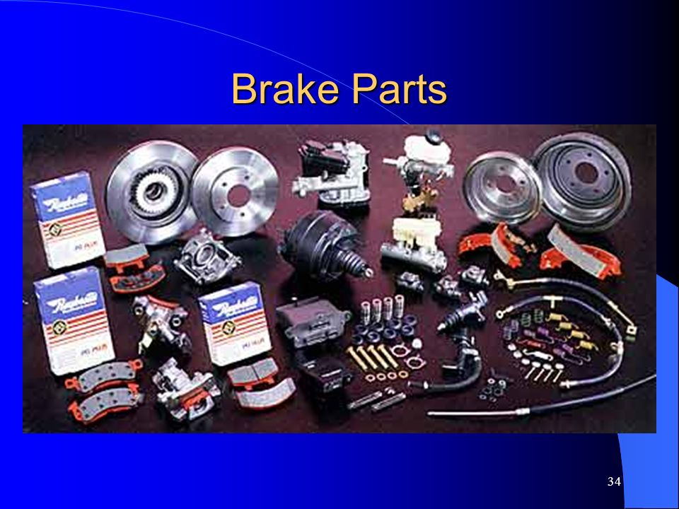 33 Brake Lines Throughout the brake system and into the wheel (or brake) cylinders. The pressure placed upon this fluid causes the cylinder pistons to