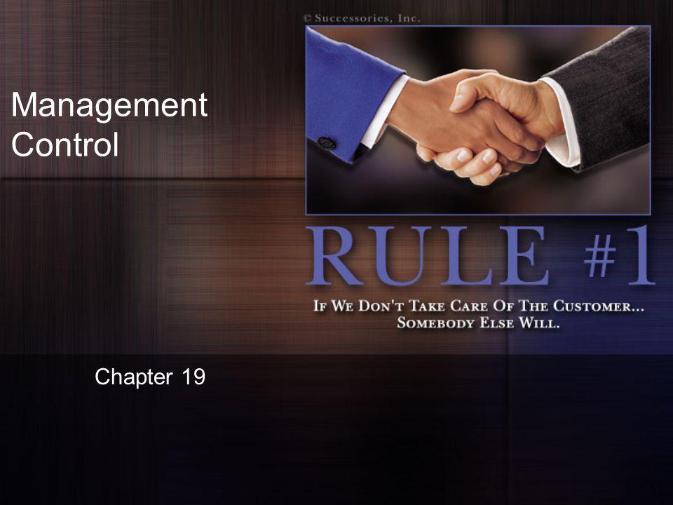 Management Control Chapter 19