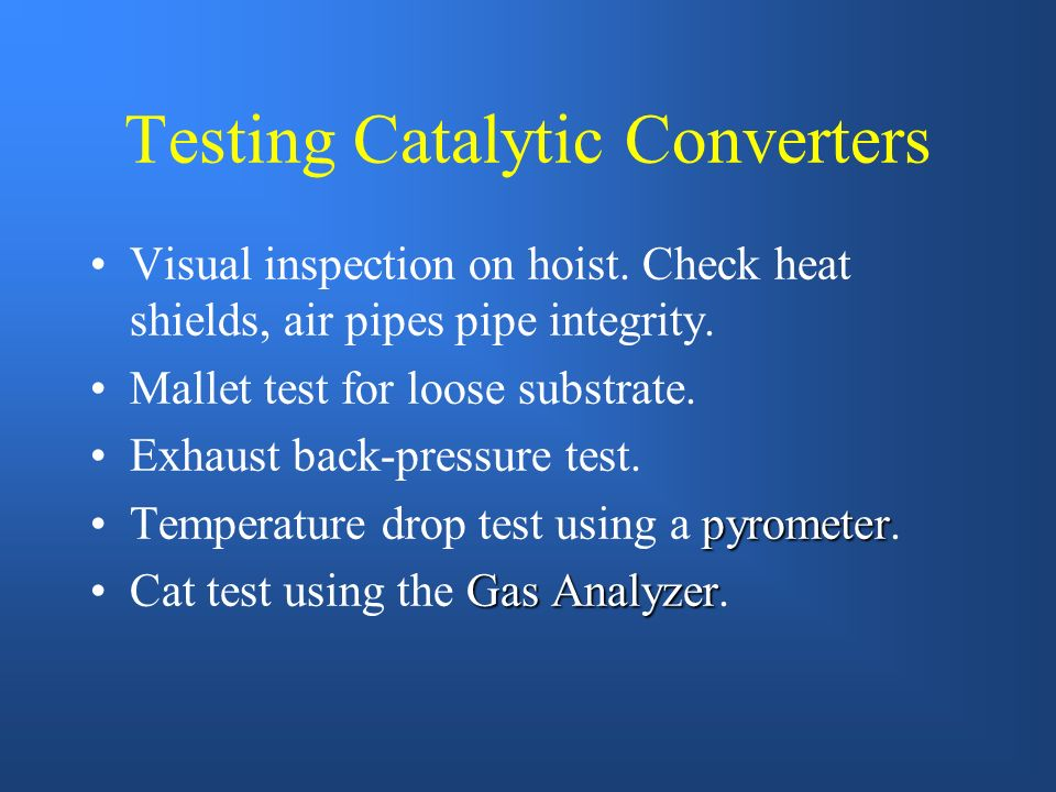 Typical Three-Way Converter Reduction Catalyst NOx reduction Oxidation Catalyst Burns CO & HC