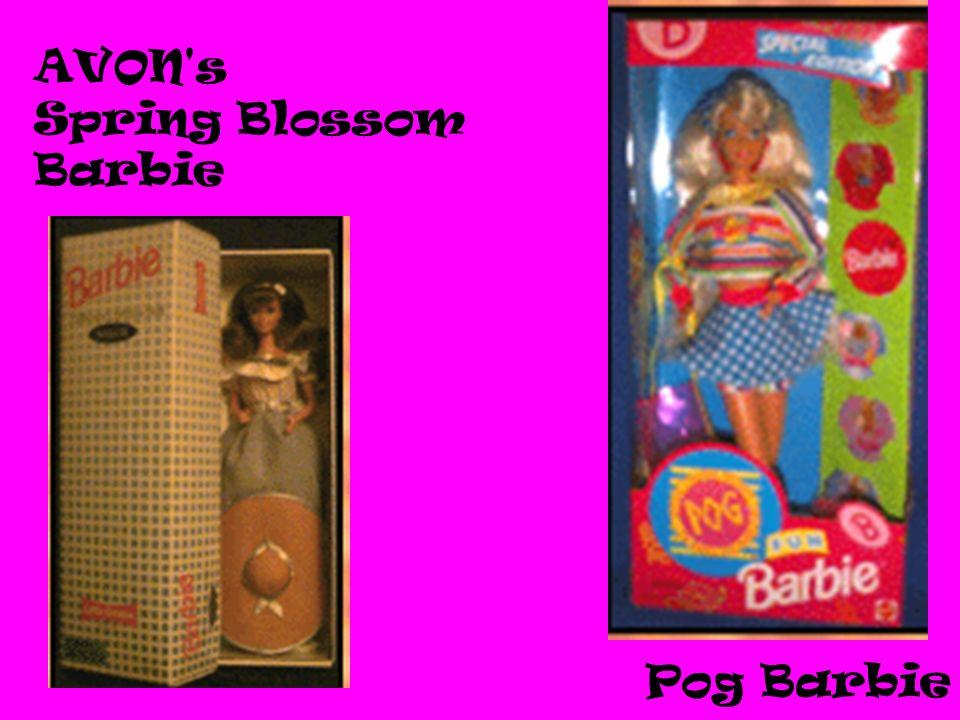 AVON's Spring Blossom Barbie Pog Barbie