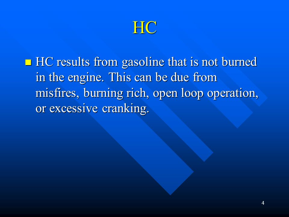 34 3 way Reactions between CO, HC, and NOx result in the removal of all three major exhaust pollutants.