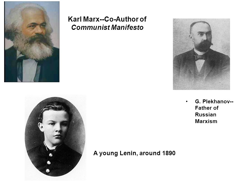 Karl Marx--Co-Author of Communist Manifesto G.