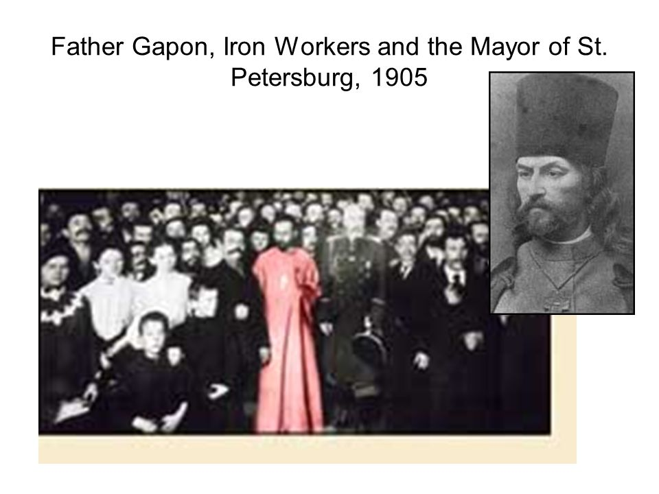 Father Gapon, Iron Workers and the Mayor of St. Petersburg, 1905