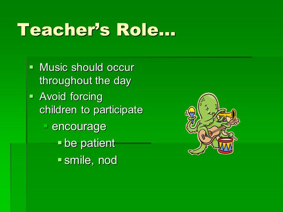 Teachers Role