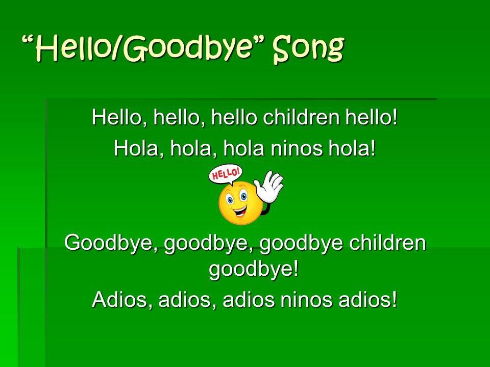Sample Preschool Songs: Hello and Goodbye Song Hello and Goodbye Song Pd. 3/6 preschool... Hello song Pd. 3/6 preschool... Hello song Pd. 4/8 preschoo