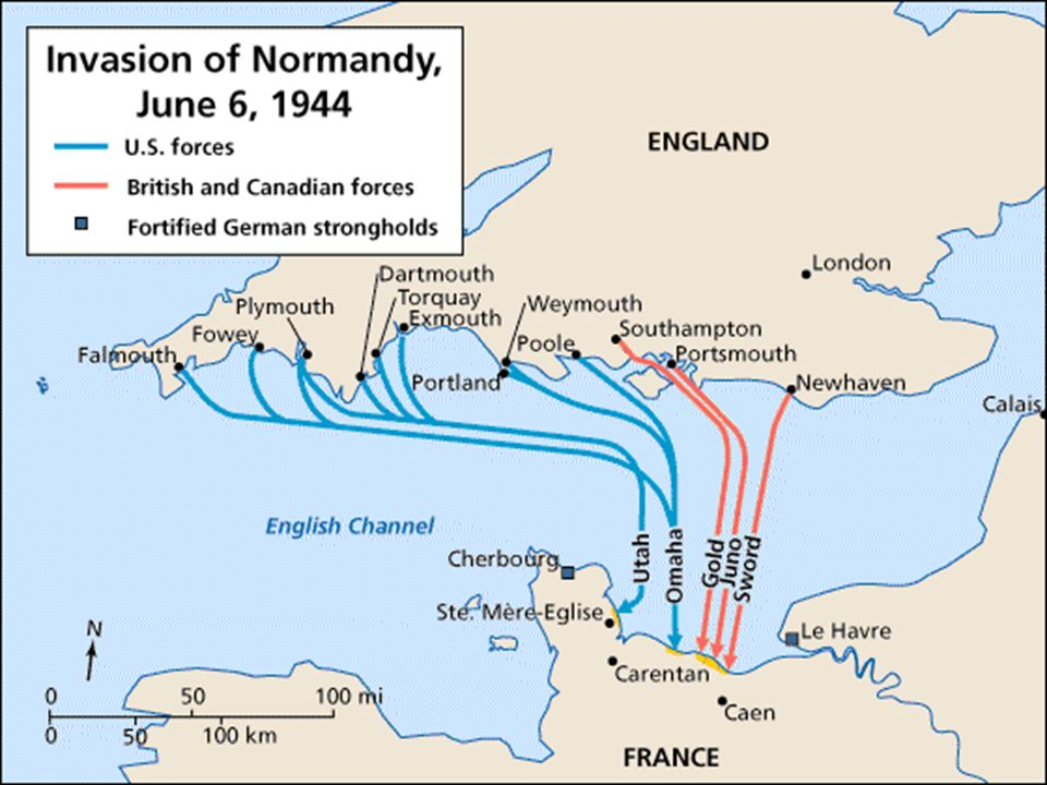 OPERATION OVERLORD Invasion of mainland of Europe, essential to winning the war Hitler expected it at Calais, but the coast was heavily defended