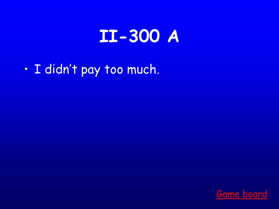 II-200 A Do it! Game board