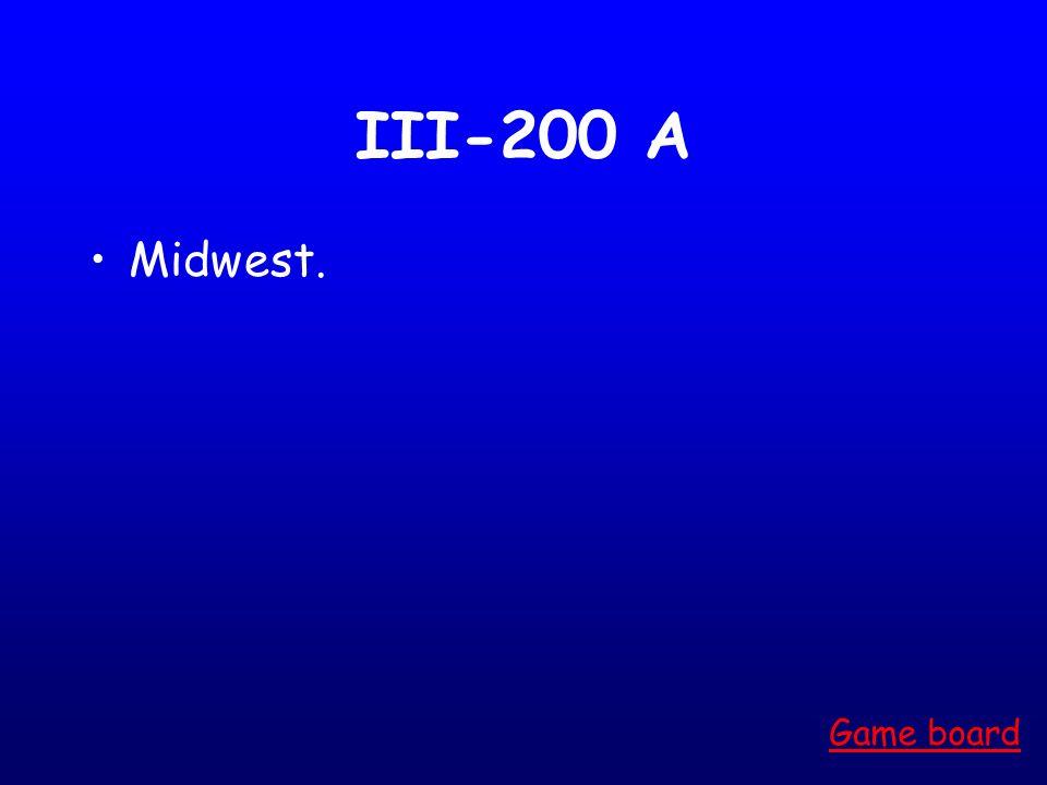 III-100 A Northeast Game board