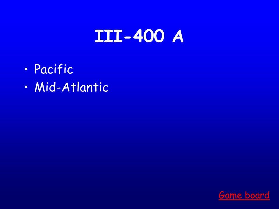 III-300 A Pacific Game board