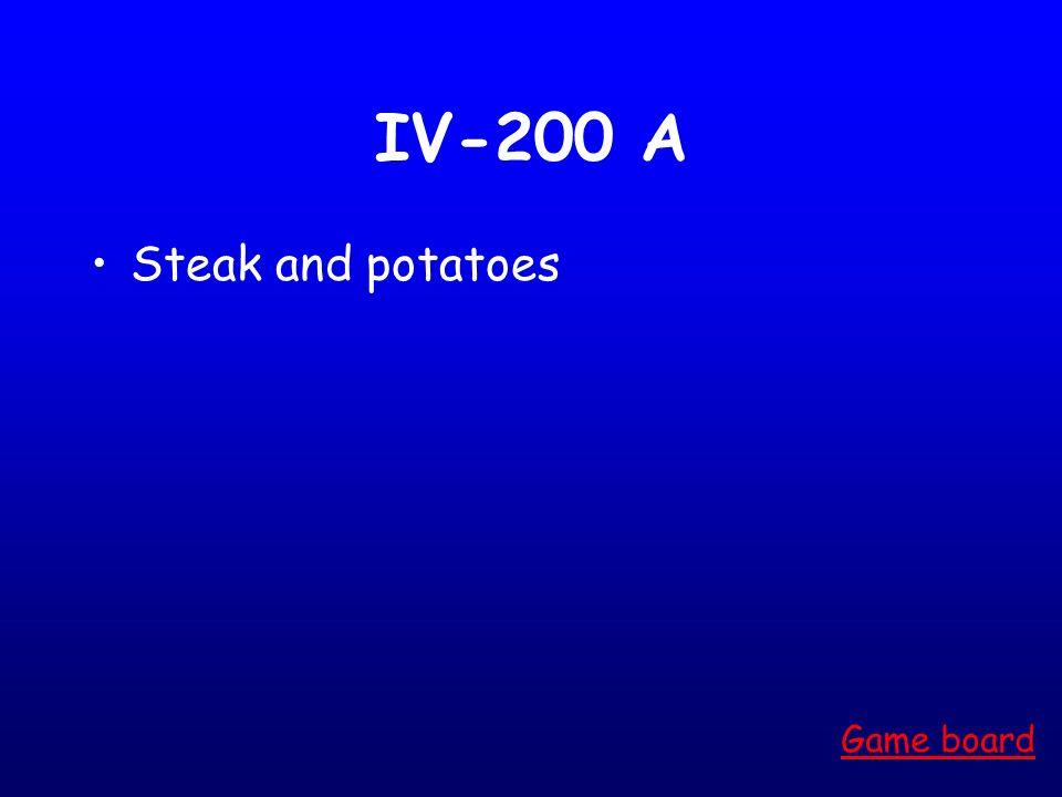 IV-100 A PB &J Game board