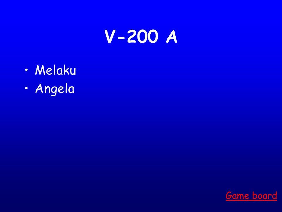V-100 A Alberto Game board