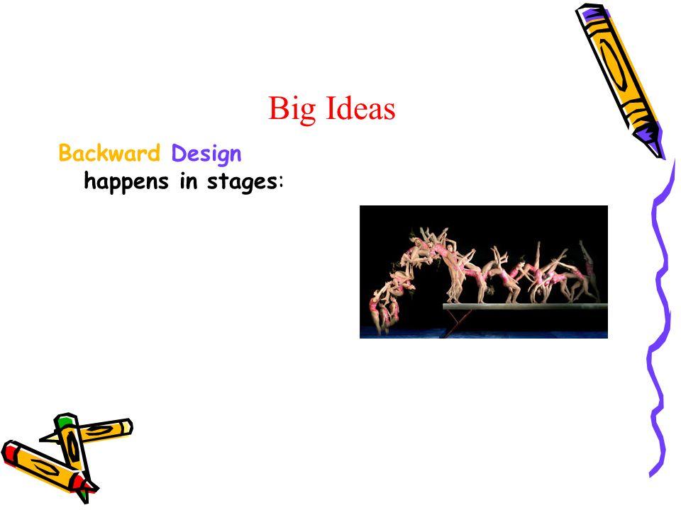 Big Ideas Backward Design happens in stages: