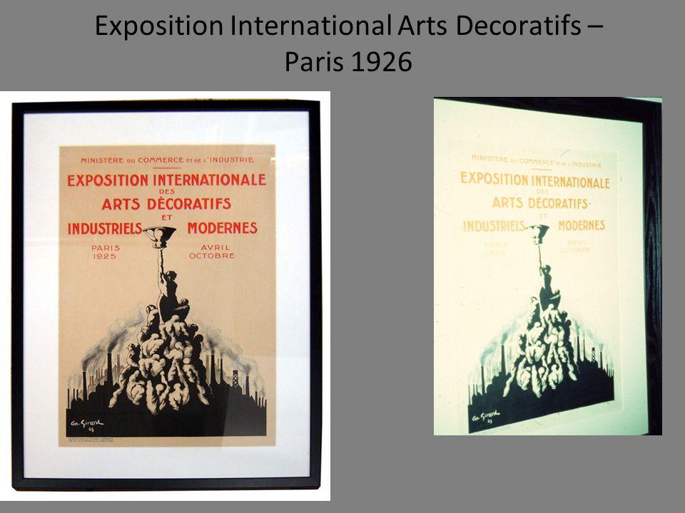 Exposition International Arts Decoratifs – Paris 1926