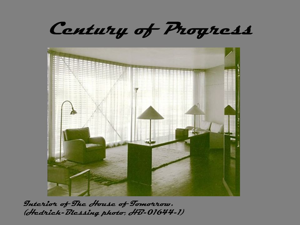 Century of Progress Interior of The House of Tomorrow. (Hedrich-Blessing photo, HB-01644-1)