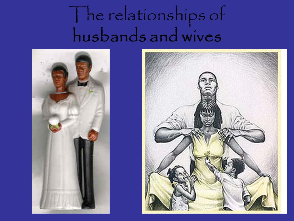 The relationships of husbands and wives