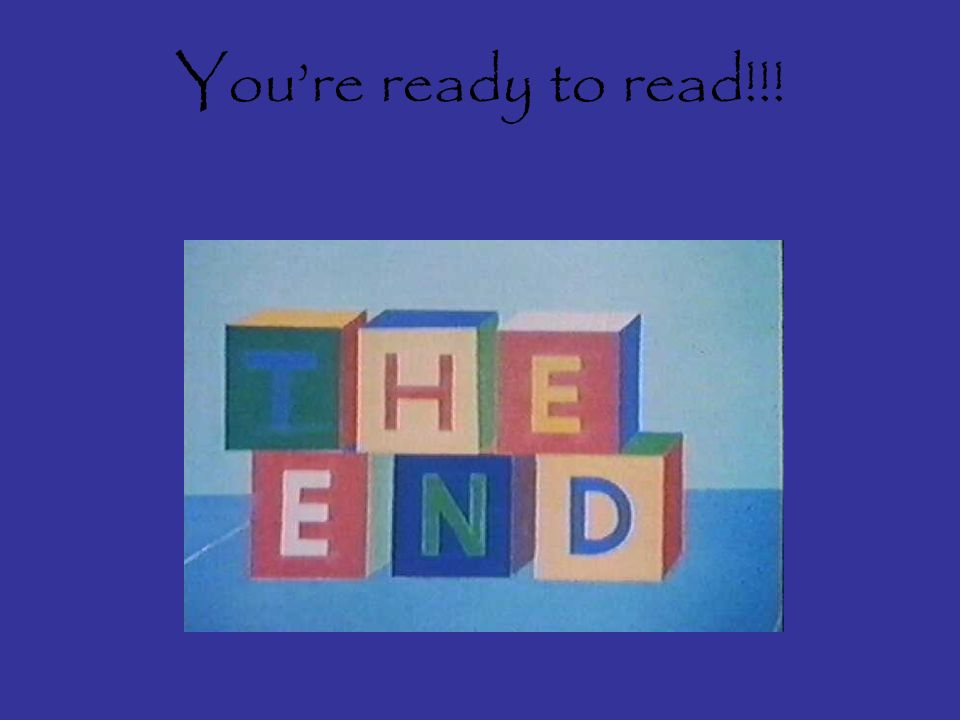 Youre ready to read!!!
