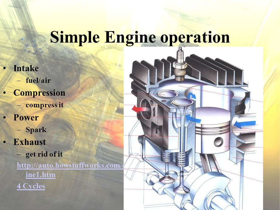 Piston Sliding plug Expands during operation Ring grooves Piston pin/wrist pin Head constructions