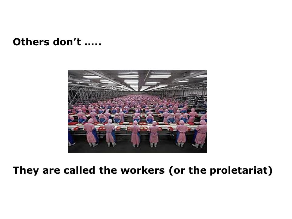 Others dont ….. They are called the workers (or the proletariat)