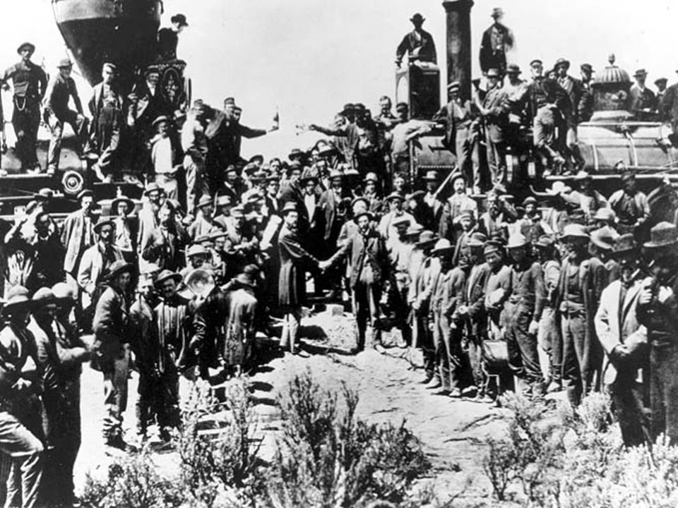 As railroads spread across the country… They gained power and influence. They were given huge land grants by the government. Sold for PROFIT. 1869 The