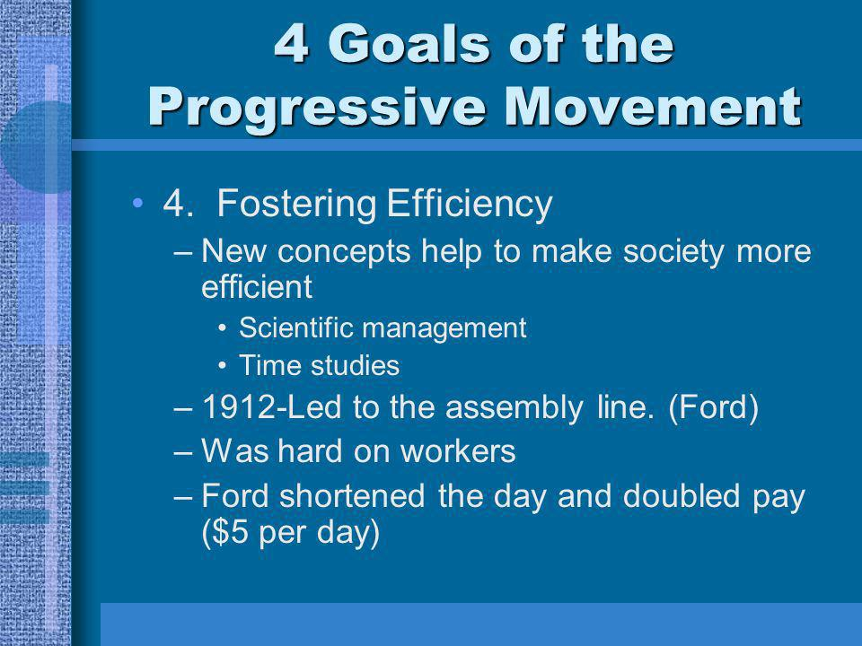 4 Goals of the Progressive Movement 3. Create Economic Reform.
