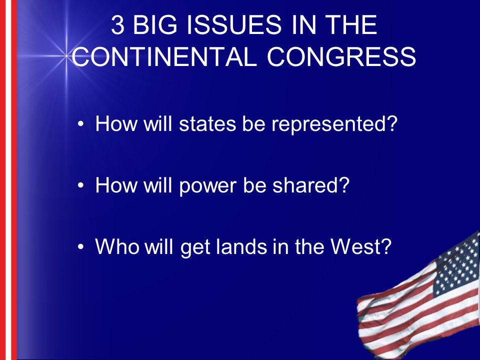 Some issues (DWTD) What will the relationship between the states and the federal government be.