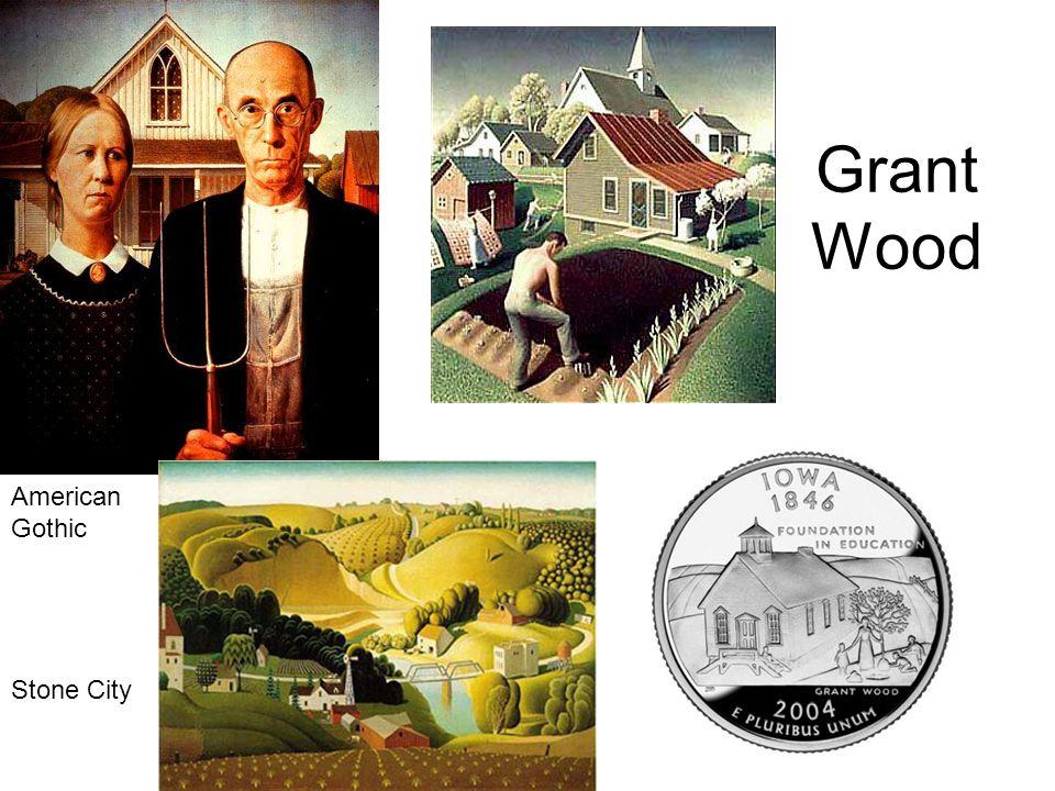 Grant Wood Stone City American Gothic