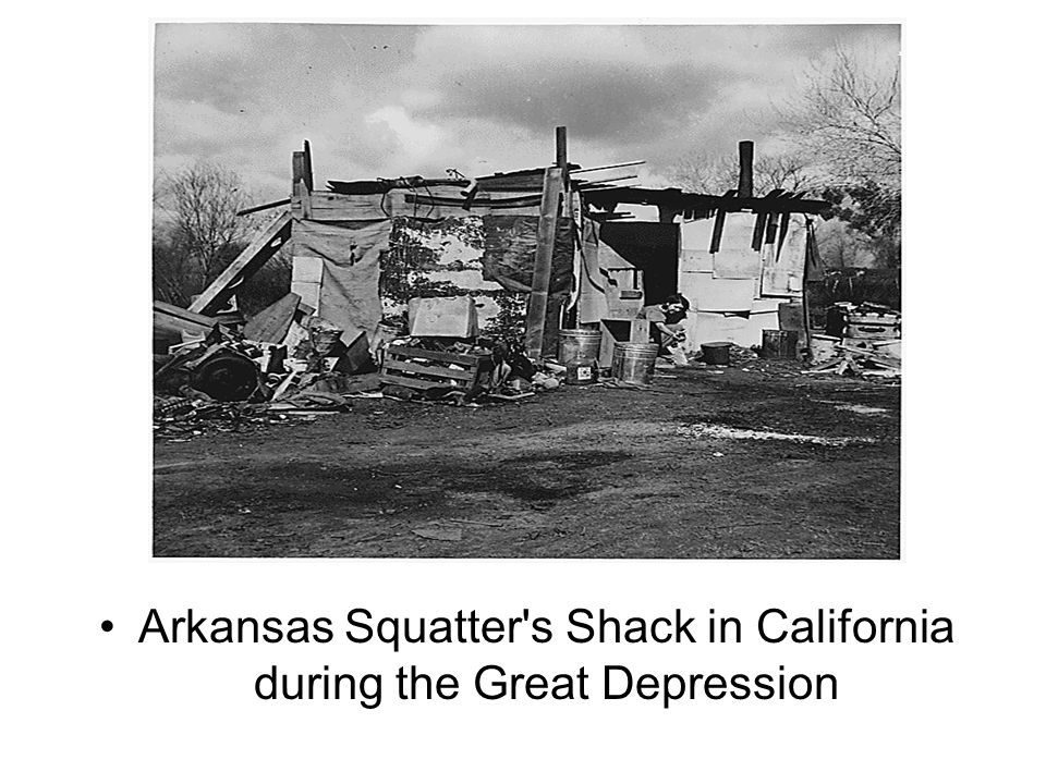 Arkansas Squatter's Shack in California during the Great Depression