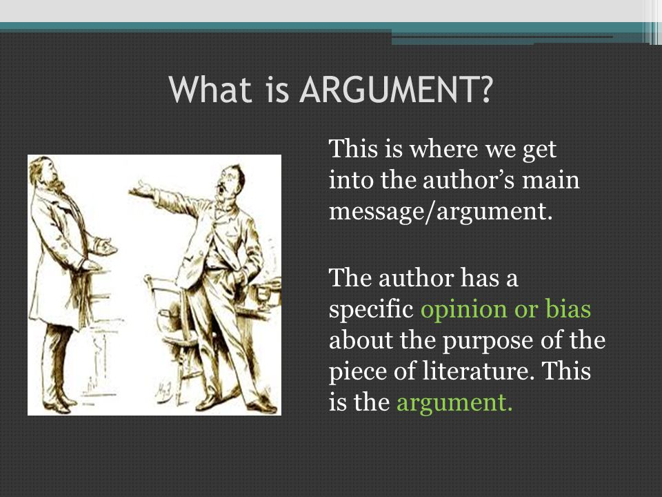 Which is the ARGUMENT.The author wants to show the effects of mass media on society.