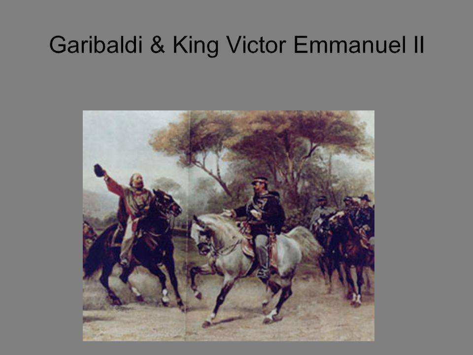 Step #6: Garibaldi & His Red Shirts Unite with Cavour