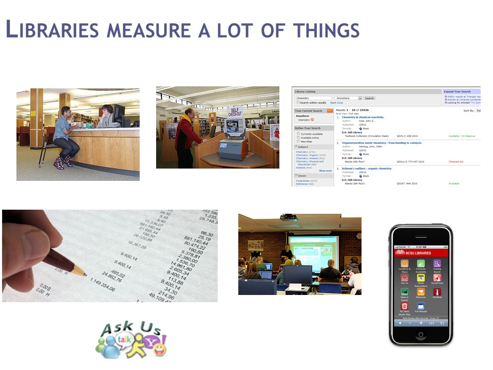 L IBRARIES MEASURE A LOT OF THINGS