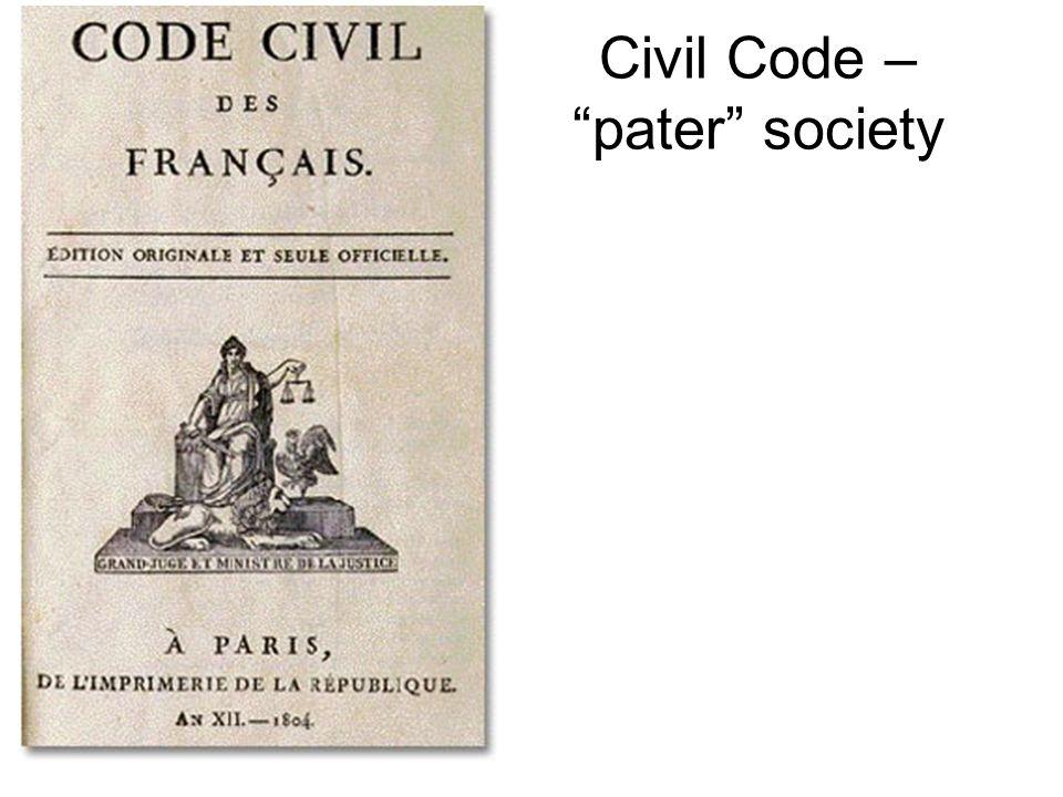 Civil Code – pater society