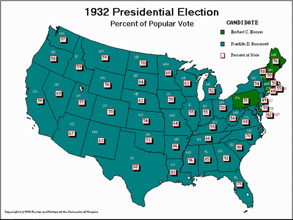 The Election of 1932 People in the U.S.lacked work, food and Hope.